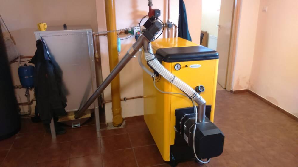 Przykładowy montaż kotła lumo bio max plus 15 kW