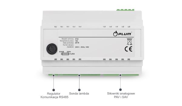 Wizerunek modułu ecoLAMBDA firmy Plum który pozwala na ciągły pomiar parametrów spalin kotła