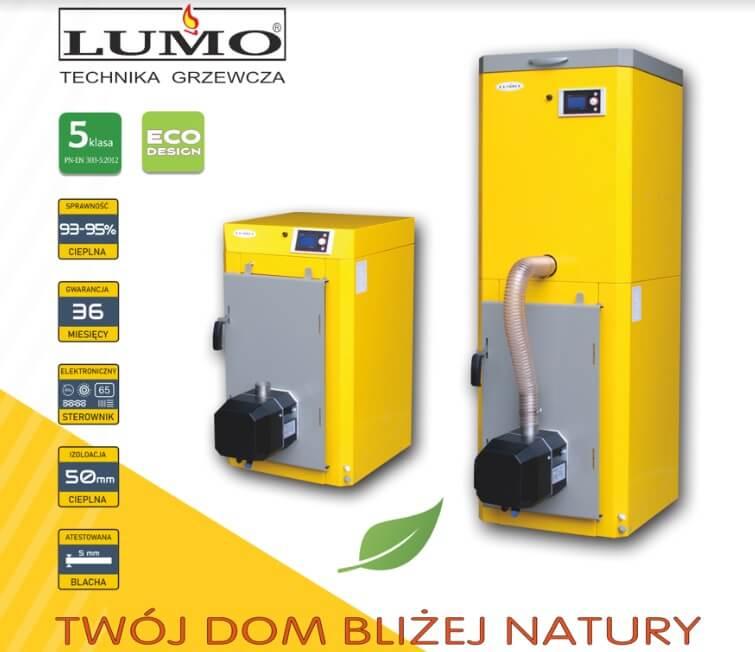 Kocioł na pellet Lumo Bio Max MINI o mocach od 10 kW do 15 kW