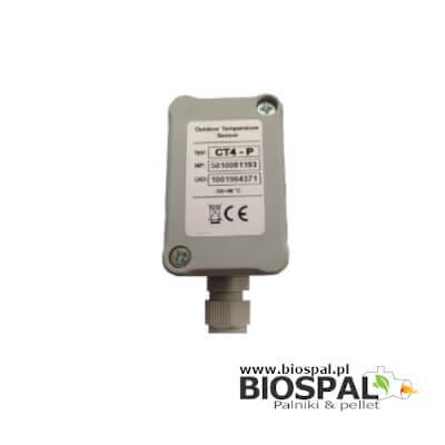 Pogodowy czujnik temperatury zewnętrznej od firmy PLUM współpracujący z panelami sterowania firmy PLUM.